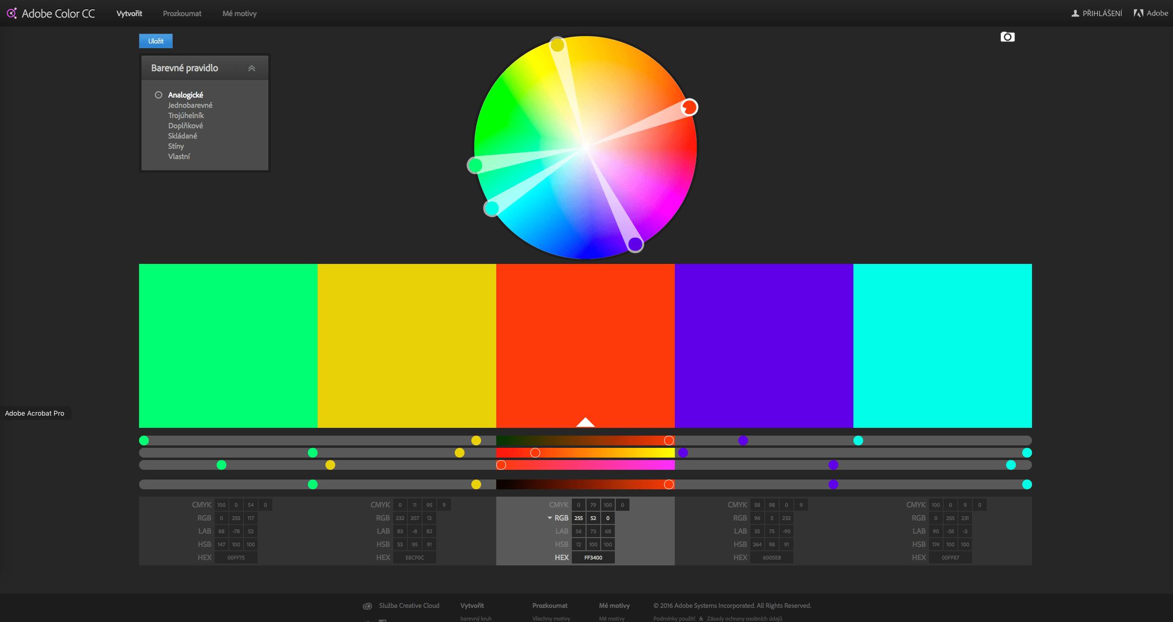 color adobe 2016 02 - Jak vhodně vybrat barvy? Díky aplikaci Adobe Color!