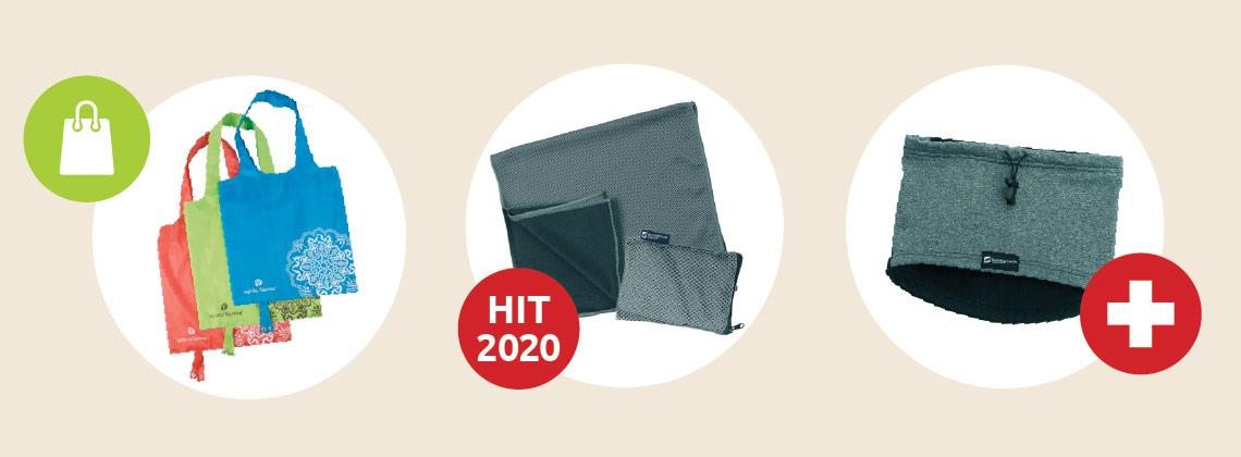 Nákupní taška, Outdoorový ručník, Multifunkční nákrčník